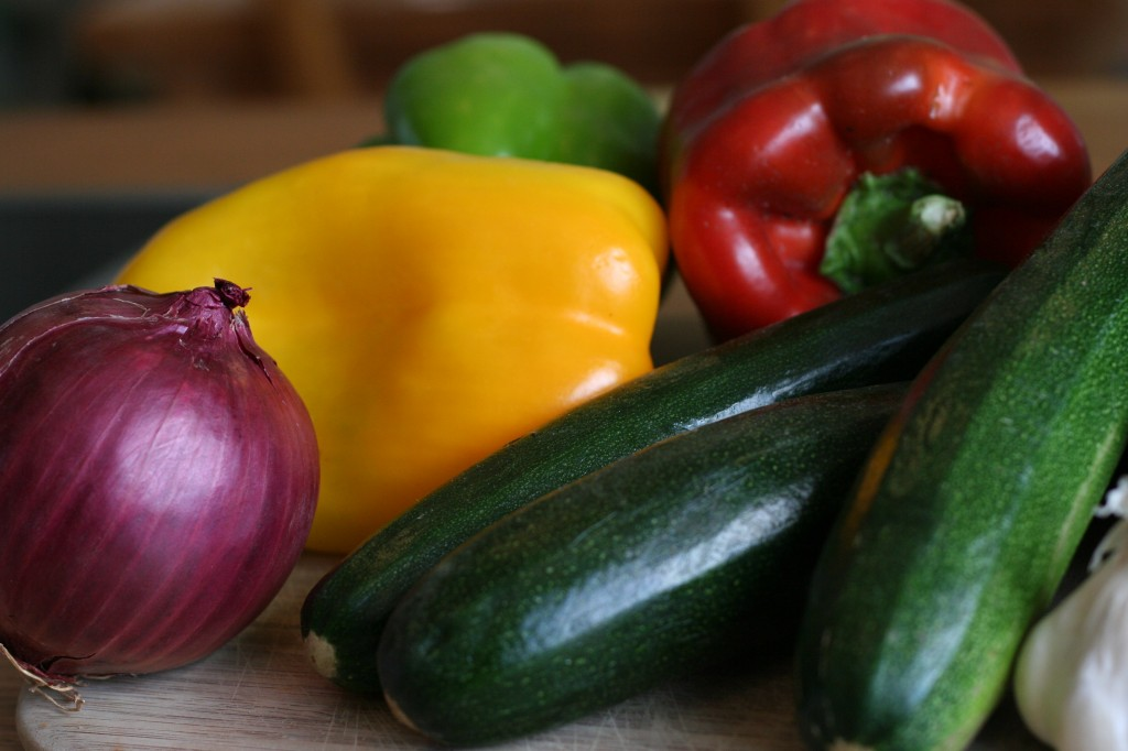 vegetables destined for ratatouille