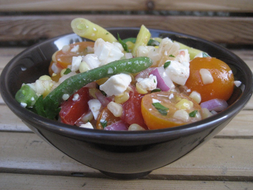 Corn, Tomato, Green Bean Salad