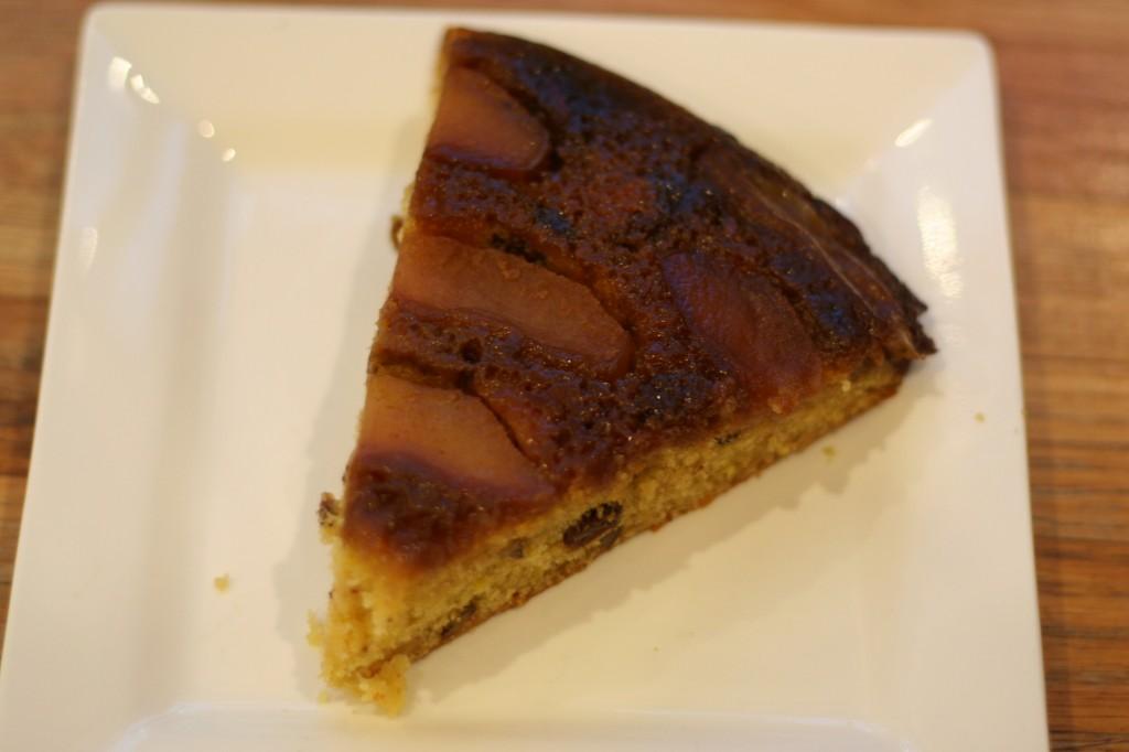 upside-down apple cornmeal cake