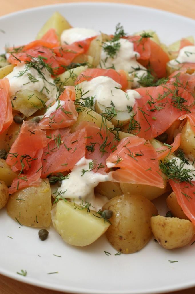 Smoked Salmon and Potato Salad with Horseradish Crème Fraîche