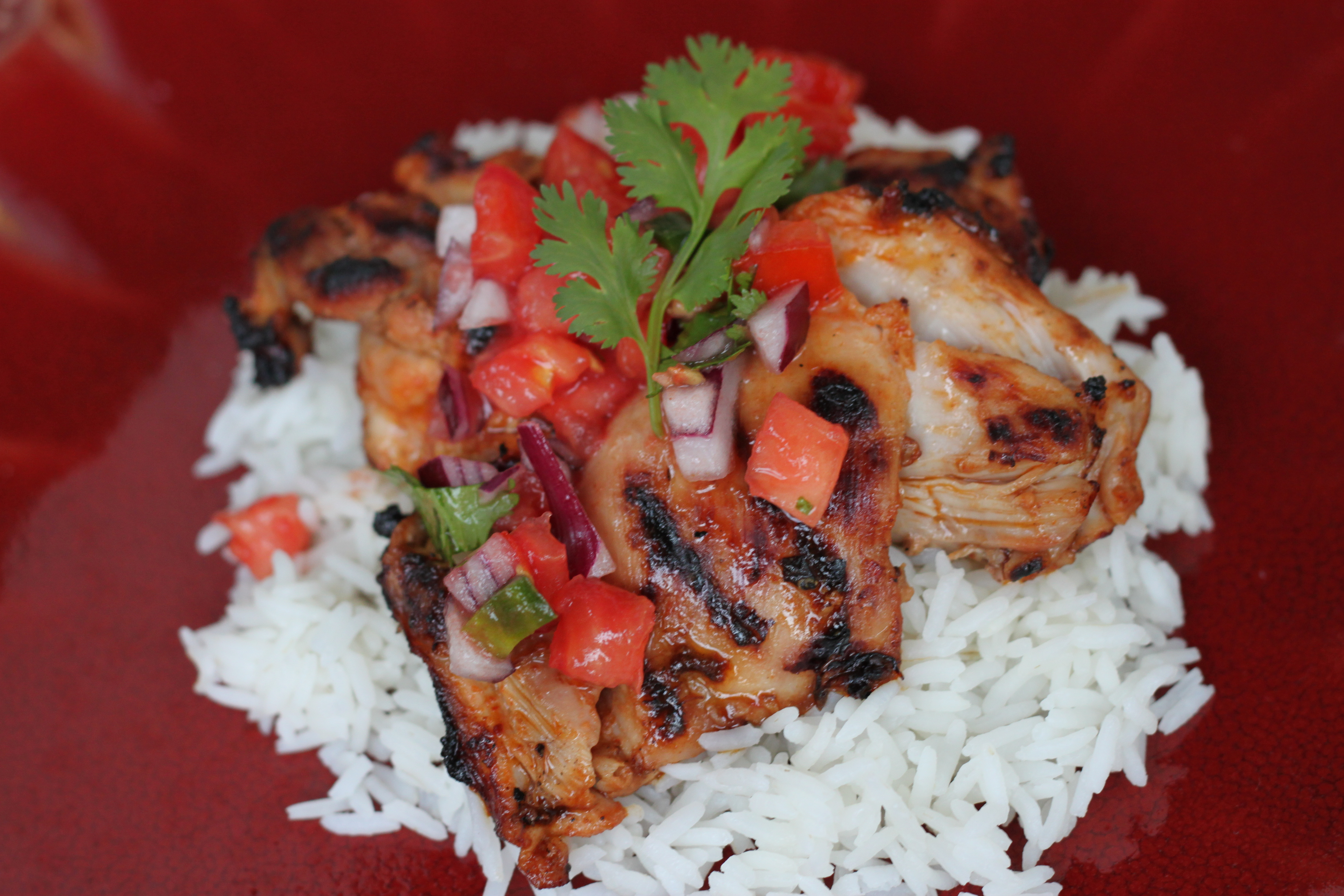 Chipotle Lime Grilled Chicken Thighs With Pico De Gallo