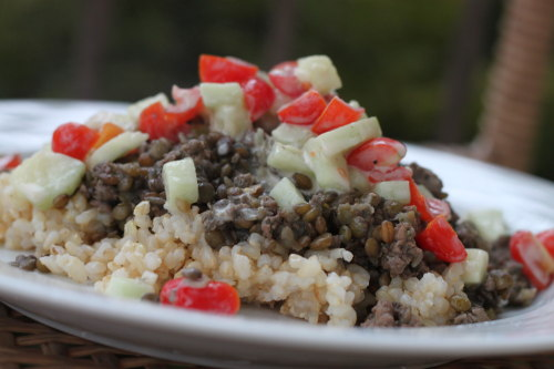 Spiced Lamb with Lentils