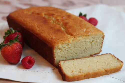 Maple Yogurt Pound Cake with Berries