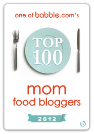 Babble.com Top 100 Food Mom Blogger 2012